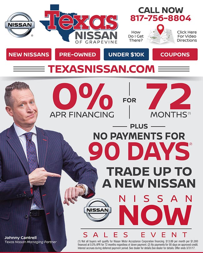 0 For 72 Months Plus 90 Days No Payments Texas Nissan